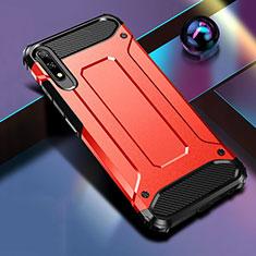 Custodia Silicone e Plastica Opaca Cover per Huawei Honor 9X Rosso