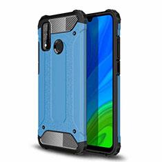 Custodia Silicone e Plastica Opaca Cover per Huawei P Smart (2020) Cielo Blu