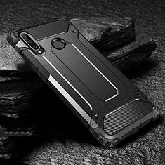 Custodia Silicone e Plastica Opaca Cover per Huawei P30 Lite Nero