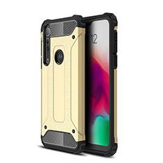 Custodia Silicone e Plastica Opaca Cover per Motorola Moto G8 Play Oro