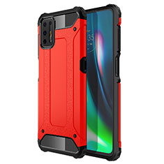 Custodia Silicone e Plastica Opaca Cover per Motorola Moto G9 Plus Rosso