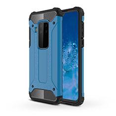 Custodia Silicone e Plastica Opaca Cover per Motorola Moto One Zoom Cielo Blu