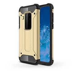Custodia Silicone e Plastica Opaca Cover per Motorola Moto One Zoom Oro