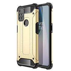 Custodia Silicone e Plastica Opaca Cover per OnePlus Nord N10 5G Oro