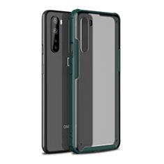 Custodia Silicone e Plastica Opaca Cover per OnePlus Nord Verde Notte