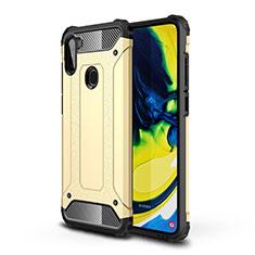 Custodia Silicone e Plastica Opaca Cover per Samsung Galaxy A11 Oro