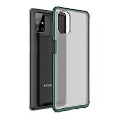 Custodia Silicone e Plastica Opaca Cover per Samsung Galaxy M51 Verde