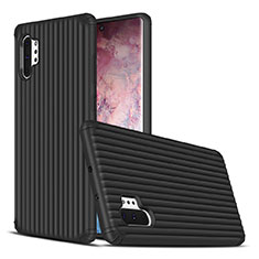 Custodia Silicone e Plastica Opaca Cover per Samsung Galaxy Note 10 Plus Nero