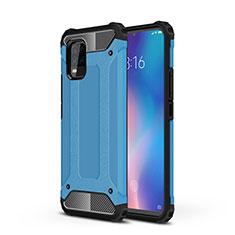 Custodia Silicone e Plastica Opaca Cover per Xiaomi Mi 10 Lite Cielo Blu