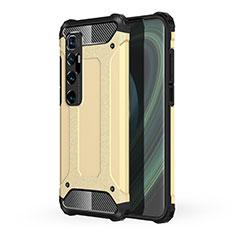 Custodia Silicone e Plastica Opaca Cover per Xiaomi Mi 10 Ultra Oro