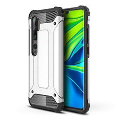 Custodia Silicone e Plastica Opaca Cover per Xiaomi Mi Note 10 Bianco