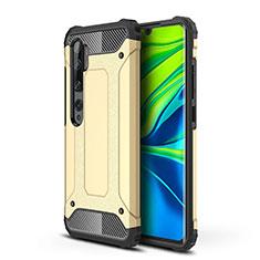 Custodia Silicone e Plastica Opaca Cover per Xiaomi Mi Note 10 Oro