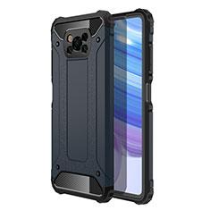 Custodia Silicone e Plastica Opaca Cover per Xiaomi Poco X3 NFC Blu Notte