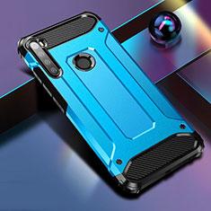 Custodia Silicone e Plastica Opaca Cover per Xiaomi Redmi Note 8 Blu