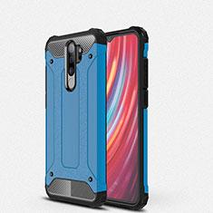 Custodia Silicone e Plastica Opaca Cover per Xiaomi Redmi Note 8 Pro Blu