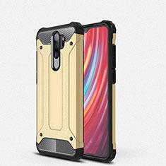 Custodia Silicone e Plastica Opaca Cover per Xiaomi Redmi Note 8 Pro Oro