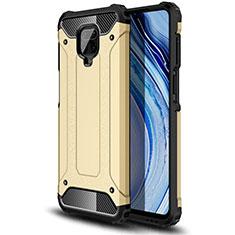 Custodia Silicone e Plastica Opaca Cover per Xiaomi Redmi Note 9 Pro Oro
