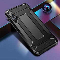 Custodia Silicone e Plastica Opaca Cover R01 per Huawei Honor 20 Pro Nero
