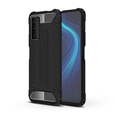 Custodia Silicone e Plastica Opaca Cover R01 per Huawei Honor X10 5G Nero