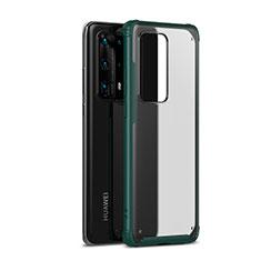 Custodia Silicone e Plastica Opaca Cover R01 per Huawei P40 Pro+ Plus Verde