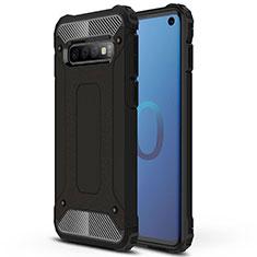 Custodia Silicone e Plastica Opaca Cover R01 per Samsung Galaxy S10 Nero