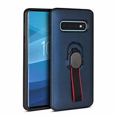 Custodia Silicone e Plastica Opaca Cover R01 per Samsung Galaxy S10 Plus Blu