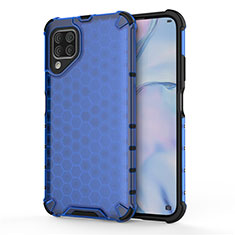 Custodia Silicone e Plastica Opaca Cover R02 per Huawei Nova 6 SE Blu
