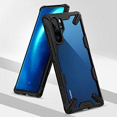 Custodia Silicone e Plastica Opaca Cover R02 per Huawei P30 Pro Nero