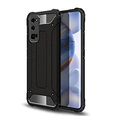 Custodia Silicone e Plastica Opaca Cover U01 per Huawei Honor 30 Pro Nero
