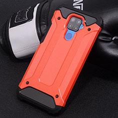 Custodia Silicone e Plastica Opaca Cover U01 per Huawei Mate 30 Lite Rosso