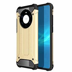 Custodia Silicone e Plastica Opaca Cover U01 per Huawei Mate 40 Pro+ Plus Oro