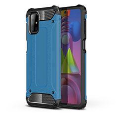 Custodia Silicone e Plastica Opaca Cover U01 per Samsung Galaxy M51 Cielo Blu