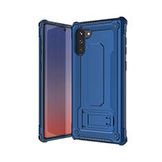 Custodia Silicone e Plastica Opaca Cover U01 per Samsung Galaxy Note 10 5G Blu
