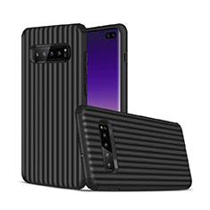 Custodia Silicone e Plastica Opaca Cover U01 per Samsung Galaxy S10 Plus Nero