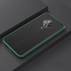 Custodia Silicone e Plastica Opaca Cover U01 per Vivo X50 Lite Ciano