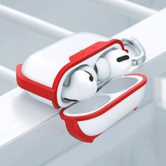 Custodia Silicone e Plastica Opaca Cover U02 per Apple AirPods Pro Rosso