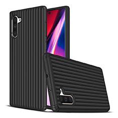Custodia Silicone e Plastica Opaca Cover U02 per Samsung Galaxy Note 10 Nero