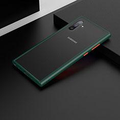 Custodia Silicone e Plastica Opaca Cover U04 per Samsung Galaxy Note 10 5G Verde