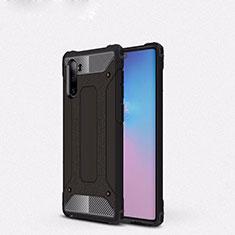 Custodia Silicone e Plastica Opaca Cover U05 per Samsung Galaxy Note 10 Nero