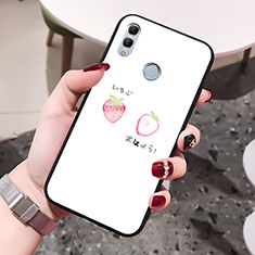 Custodia Silicone Gel Laterale Amore Cuore Specchio Cover per Huawei Honor 10 Lite Bianco