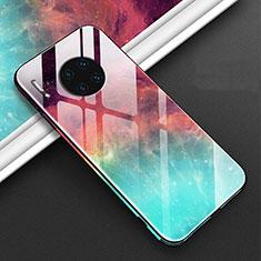 Custodia Silicone Gel Laterale Fantasia Modello Specchio Cover C01 per Huawei Mate 30 5G Rosso