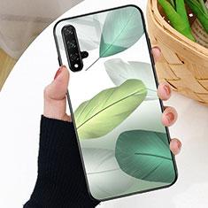 Custodia Silicone Gel Laterale Fantasia Modello Specchio Cover D01 per Huawei Nova 5T Verde