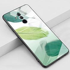 Custodia Silicone Gel Laterale Fantasia Modello Specchio Cover H07 per Huawei Mate 20 Lite Verde
