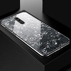 Custodia Silicone Gel Laterale Fantasia Modello Specchio Cover H09 per Huawei Mate 20 Lite Nero