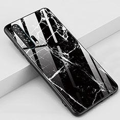Custodia Silicone Gel Laterale Fantasia Modello Specchio Cover K01 per Huawei Honor 20 Pro Nero