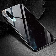 Custodia Silicone Gel Laterale Fantasia Modello Specchio Cover K01 per Huawei P30 Nero