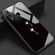 Custodia Silicone Gel Laterale Fantasia Modello Specchio Cover K03 per Huawei Honor 20 Lite Grigio