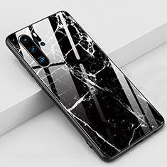 Custodia Silicone Gel Laterale Fantasia Modello Specchio Cover K03 per Huawei P30 Pro Nero