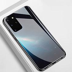 Custodia Silicone Gel Laterale Fantasia Modello Specchio Cover M01 per Samsung Galaxy S20 Plus 5G Nero