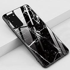 Custodia Silicone Gel Laterale Fantasia Modello Specchio Cover M02 per Samsung Galaxy S20 5G Nero